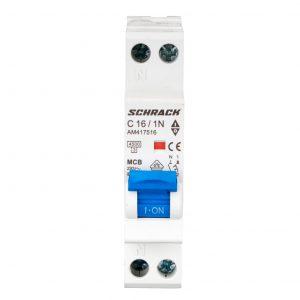 Intreruptor automat AMPARO, 4,5kA, C16A, 1P+N, 1modul