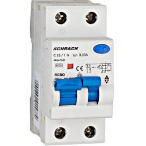 Intreruptor automat+dif. 1P+N,AMPARO 6kA, C 25A, 30mA,tip A