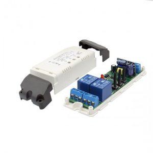 Intrerupator Wireless 2 canale, temporizare, 250V AC, 10A