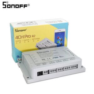 Sonoff 4CH PRO R2 WiFi RF - releu wireless 4 canale receptor RF
