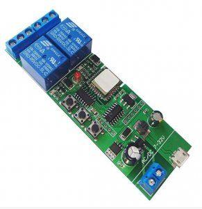 Modul releu Wireless WiFi 2 canale, usb temporizare 7-32VDC 10A