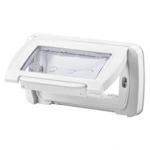 Capac cu rama Gewiss System GW22461, 4 module, IP55, alb
