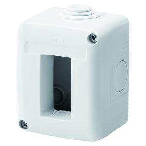 Doza aparat Gewiss, gama 27 Combi, 1 modul, aparent, IP40, GW27001