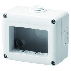 Doza aparat Gewiss, gama 27 Combi, 3 module, aparent, IP40, GW27003