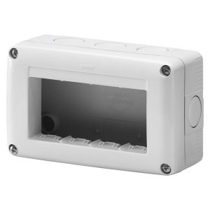 Doza aparat Gewiss, gama 27 Combi, 4 module, aparent, IP40, GW27004