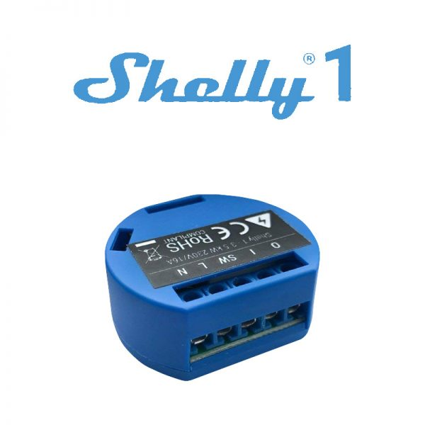 Releu WiFi Shelly 1, 1 canal, 16A - control Smartphone si direct, on si off cloud
