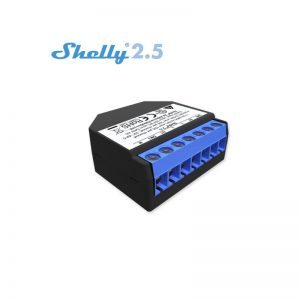 Releu Wi-Fi inteligent Shelly 2.5, 2x10A, 2 canale - control prin Smartphone si direct, on si off cloud