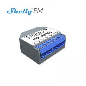 Shelly EM - releu Wi-Fi 2 canale, monitorizare consum de energie, controler de contact
