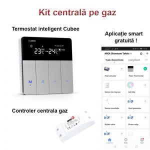 Kit centrala termica gaz termostat Cubee releu inteligent