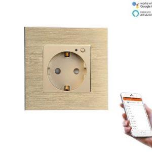 Priza wifi 16A M2 rama aluminiu Smart Life